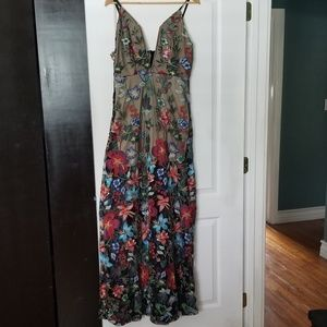 Embroidery Floral Dress